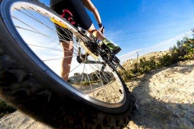 Carta da parati Bicicleta de Montaña y hombre.Deporte en esterno