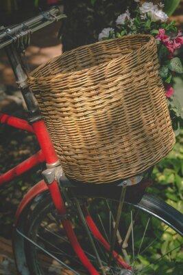 Carta da parati Biciclette d'epoca con cesto