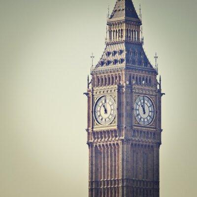 Carta da parati Big Ben a Westminster, Londra, con filtro effetto Instagram