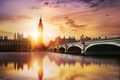Carta da parati Big Ben e House of Parliament