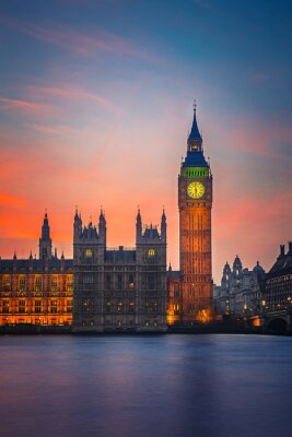 Carta da parati Big Ben e Houses of Parliament, London