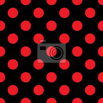 Big Pois Seamless Estratto Rosso Della Moda E La Consistenza Carta