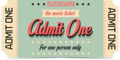 Carta da parati Biglietto del cinema