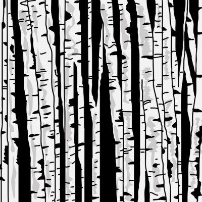 Carta da parati Birch tre per la progettazione