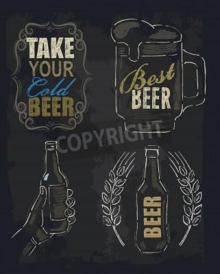 Carta da parati birra gesso