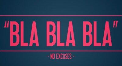 Carta da parati Blah blah blah - senza scuse