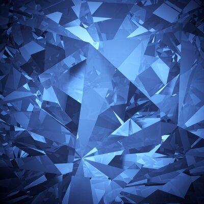 Carta da parati Blu di cristallo di lusso sfaccettatura sfondo