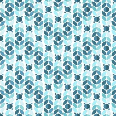 Carta da parati Blu geometrico Retro Seamless Pattern