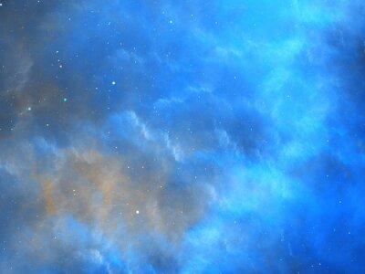 Carta da parati Blu incandescente nebulosa frattale