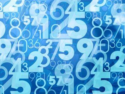 Carta da parati blu numeri astratti