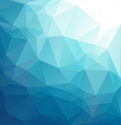 Carta da parati Blu poligonale mosaico, modelli di design creativo