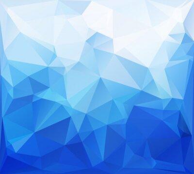 Carta da parati Blu poligonali Mosaico sfondo, per Design creativi