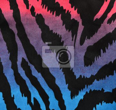 Blu Viola Rosa Motivo Zebrato Degradare Stampa Animalier Come