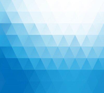 Carta da parati Blue White Mosaic Background, Creative Design Templates