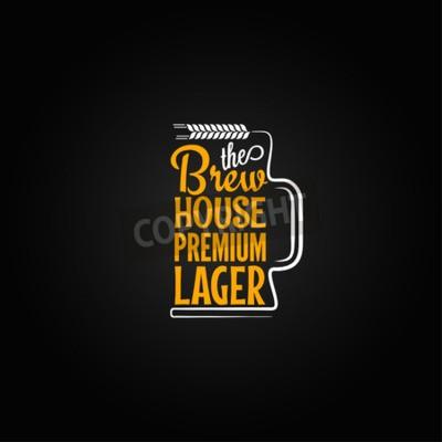 Carta da parati boccale di birra disegno di sfondo