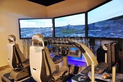 Carta da parati Boeing simulatore di volo a Singapore Airshow 3 febbraio 2010 a Singapore