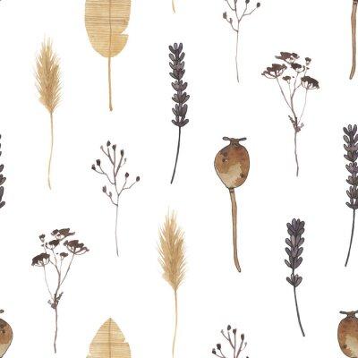 Carta da parati boho watercolor digital paper nuetral clipart magic meadows seamless pattern clip art bohemian celestial spirit moth mystery dragonfly