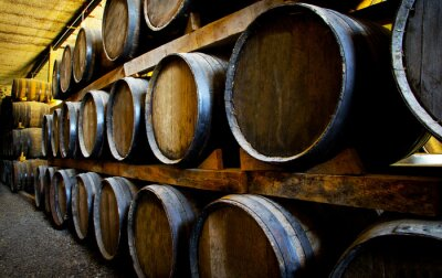 Carta da parati botti di vino