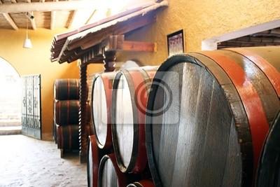 Carta da parati botti di vino in cantina