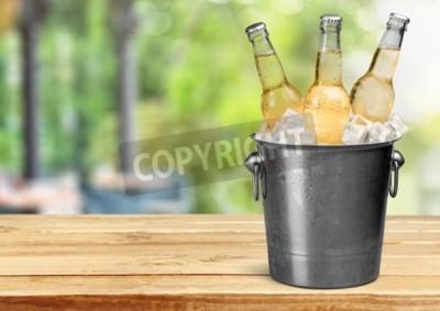 Carta da parati Bottiglia di birra.