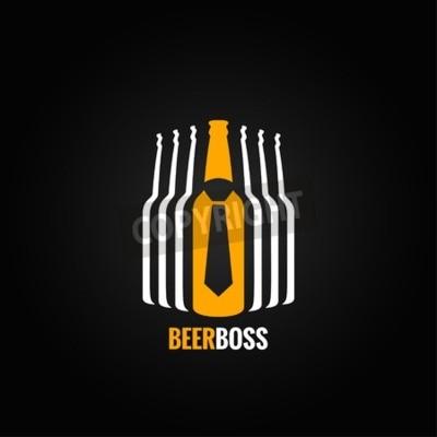 Carta da parati bottiglia di birra concetto di capo disegno di sfondo