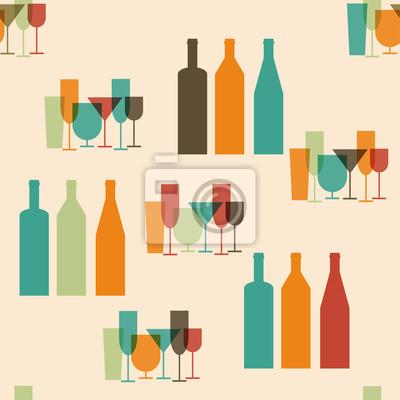 Carta Da Parati Bottiglie.Bottiglie E Bicchieri Carta Da Parati Carte Da Parati Vermut Campione Bicchiere Da Vino Myloview It