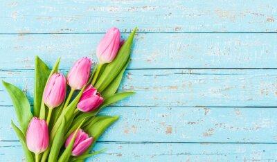 Carta da parati Bouquet di tulipani Rosa