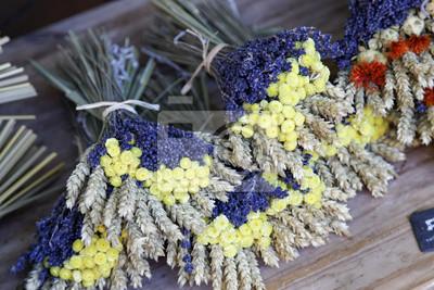bouquet lavande bl et mimosa carta da parati carte da parati costa azzurra fiori secchi. Black Bedroom Furniture Sets. Home Design Ideas