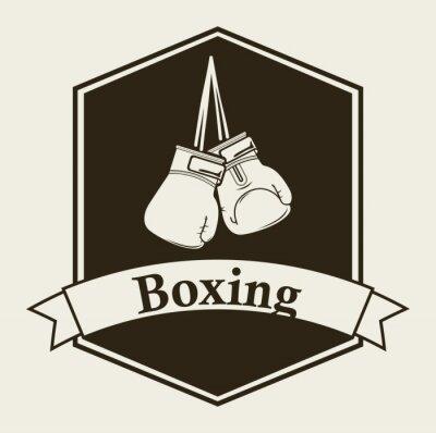 Carta da parati boxe emblema
