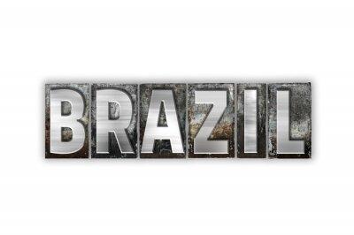 Carta da parati Brasile Concetto isolato metalli tipografica tipo