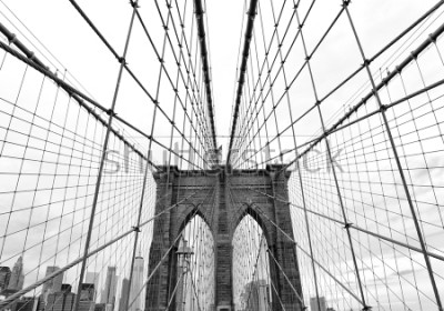 Carta da parati Brooklyn Bridge in New York City, USA