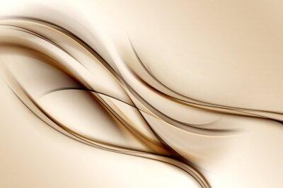 Carta da parati Brown Waves Background
