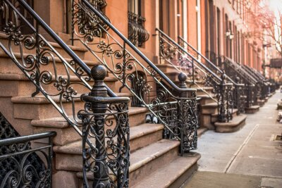 Carta da parati Brownstone Appartamenti nel circondario di Chelsea di New York