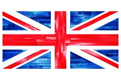 Carta da parati brytyjska Flaga WEKTOR
