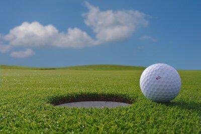 Carta da parati buche da golf e palla