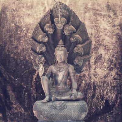 Carta da parati Buddha seduto statua