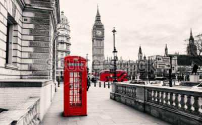 Carta da parati Cabina telefonica rossa a Londra