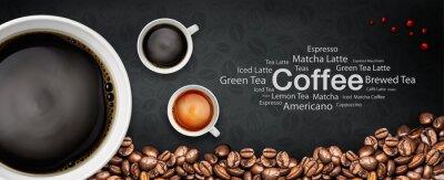 Carta da parati caffè backgrond