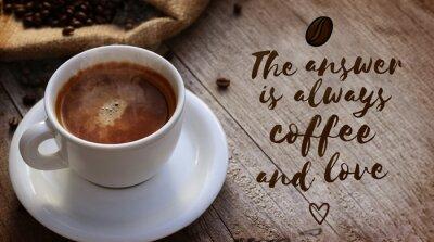 Carta da parati caffè Citazione