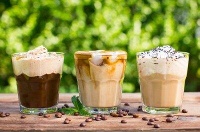 Carta da parati Caffè di ghiaccio con latte e panna montata
