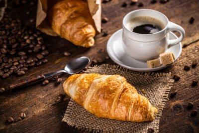 Carta da parati Caffè e cornetto