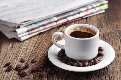 Carta da parati Caffè e giornale