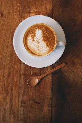 Carta da parati caffè latte in colore epoca caffetteria