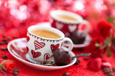 Carta da parati Caffè per il giorno di San Valentino.