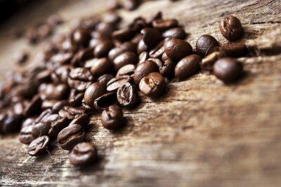 Carta da parati Caffè su legno