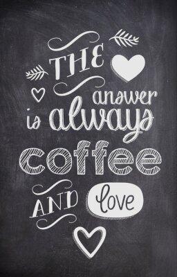 Carta da parati Caffè un'offerta scritta con il gesso su una lavagna