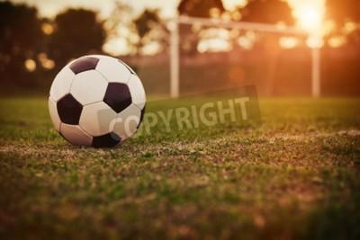 Carta da parati Calcio al tramonto
