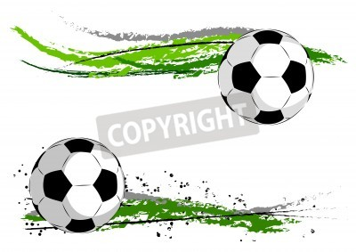 Carta da parati Calcio in astratto verde