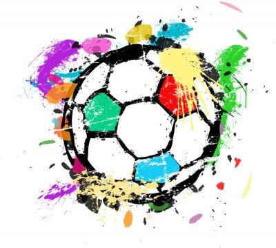 Carta da parati Calcio o di calcio illustrazione vettoriale, splas vernice multicolore