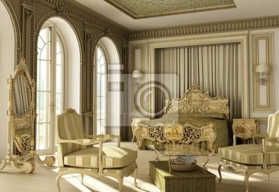 Carta da parati: Camera da letto di lusso in stile rococò.